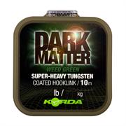 Поводковый материал Korda Dark Matter Tungsten Coated Braid Weed Green 18lb 10м