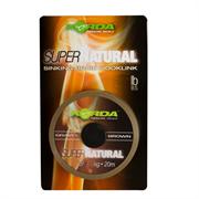 Поводковый материал Korda Super Natural Gravel Brown 18lb 20м