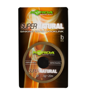 Поводковый материал Korda Super Natural Gravel Brown 25lb 20м