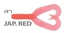 Мягкая приманка Mann'S Twister Grub 4 Japanese Red 10шт/уп