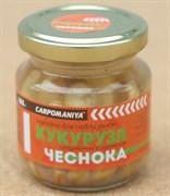 Кукуруза Карпомания в Стеклянной Банке Полумягкая Натуральная с ароматом Чеснока 105гр