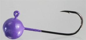 Микро-джиг Fishguru Шар 3,3гр Крючок №2 3шт/уп Сиреневый