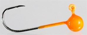 Микро-джиг Fishguru Шар 1,3гр Крючок №4 3шт/уп Оранжевый