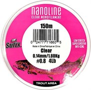 Леска Sufix Nanoline Trout 150м прозрачная 0,16мм 2,5кг