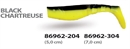 Wizard Killer Shad 7см Black/Chartreuse