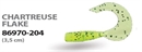 Мягкая приманка Wizard Triple Tail Grub 3,5см Chartreuse Flake