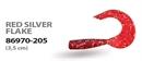 Мягкая приманка Wizard Triple Tail Grub 3,5см Red Silver Flake