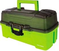 Ящик Plano 6211 с 1 уровневой системой хранения приманок и 2-мя боковыми отсеками на крышке, ярко-зеленый