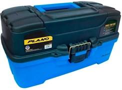 Ящик Plano 6231 с 3х уровневой системой хранения приманок и 2-мя боковыми отсеками на крышке ярко-синий