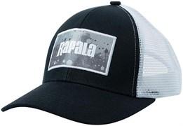 Кепка Rapala черная c сеткой GREY Splash logo