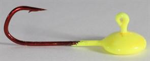 Джиг-таблетка FishGuru цвет люминисцентный жёлтый 2,5гр Крючок Selner №1 2шт/уп
