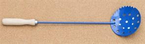Черпак синий малый с деревянной ручкой