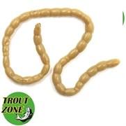Приманка Trout Zone Blood Worms косичка Пеллетс коричневый