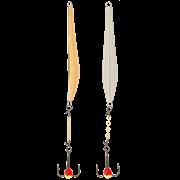 Блесна Lucky John Double Blade с цепью и тройником 45мм (LJDD45-SG)