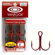 Крючки Vanfook DT-55R #04 Extra Sharp Treble Hook Short Heavy Wire 4шт/уп
