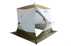 Палатка зимняя Следопыт Куб Premium 3 слоя, 4-х местная 2,1х2,1м
