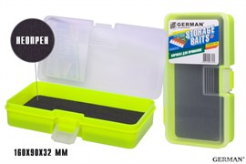 Коробка для приманок German Storage Baits NP 160x90x32мм Lime