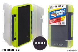 Коробка для приманок German Storage Baits NP2 175x105x35мм Lime
