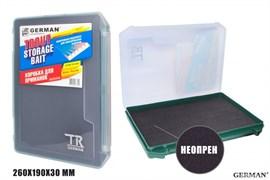 Коробка для приманок German Trout Storage Baits Green