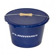 Ведро с крышкой Flagman 18л синее