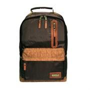 Рюкзак городской Aquatic Р-26ТКРДК цвет темно-коричневый, рыжее дно, рыжий клапан