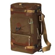 Сумка-рюкзак Aquatic С-27К с кожаными накладками цвет коричневый