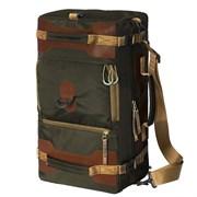 Сумка-рюкзак Aquatic С-27ТК с кожаными накладками цвет темно-коричневый