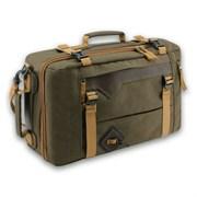 Сумка-рюкзак Aquatic С-28ТК с кожаными накладками цвет темно-коричневый