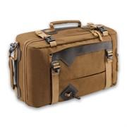 Сумка-рюкзак Aquatic С-28К с кожаными накладками цвет коричневый