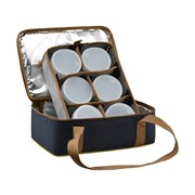 Термо-сумка Aquatic С-42 с 6-ю банками 32х23х15см синяя