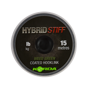 Поводковый материал Korda Hybrid Stiff  Weedy green 20lb 15м