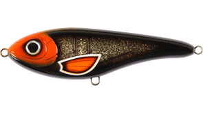 Джеркбейт Strike Pro Buster Jerk II Shallow Runner медленно всплывающий 12см 37гр Заглубление 0,3-2,0м Wolf Color C684G