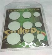 Power Dots Strike Pro Свинцовые наклейки для воблеров fluo (размер M от 0,07до 0,16гр) 25шт/уп