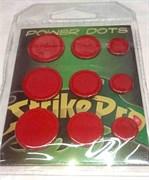 Power Dots Strike Pro Свинцовые наклейки для воблеров красные (размер M от 0,07до 0,16гр) 25шт/уп