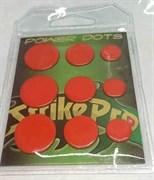 Power Dots Strike Pro Свинцовые наклейки для воблеров оранжевые (размер M от 0,07до 0,16гр) 25шт/уп