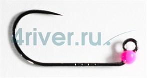 Джиг-головка Вольфрамовая Крючок Decoy Безбородый АН-12 №6 0,2гр Розовая 5шт/уп