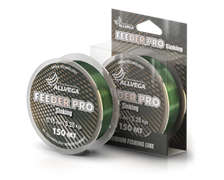 Леска Allvega Feeder Pro тонущая 150м 0,18мм 3,95кг тёмно-зелёная