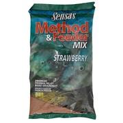 Прикормка Sensas 3000 Method Feeder Strawberry Земляника 1кг