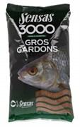 Прикормка  Sensas 3000 Gros Gardons Крупная Плотва 1кг