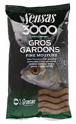 Прикормка  Sensas 3000 Gros Gardons Fine Mouture Большая Плотва 1кг
