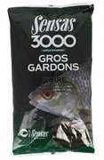 Прикормка  Sensas 3000 Gros Gardons Noir Большая Плотва Чёрная 1кг