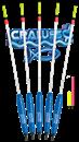 Поплавок Cralusso Multicolor waggler 8,0гр