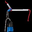 Крепёж Матчевого Поплавка Cralusso Anti-Tangle с противозакручивателем Medium 0,45гр