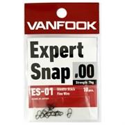 Карабины Vanfook Expert Snap Stealth Black ES-01 #0 10кг 10шт/уп