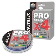 Леска Плетёная Nautilus Pro Braid X4 Multicolor 0.25 13.2кг 29lb 150м