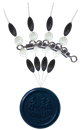 Cralusso Swivel With Pearl Beads+Rubber Stopper M