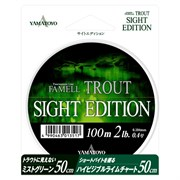 Леска Yamatoyo 100м Sight Edition Trout #0.4 2Lb/0,104мм