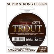 Леска Yamatoyo Super Nylon Trout 100м #1 6Lb/0,165мм